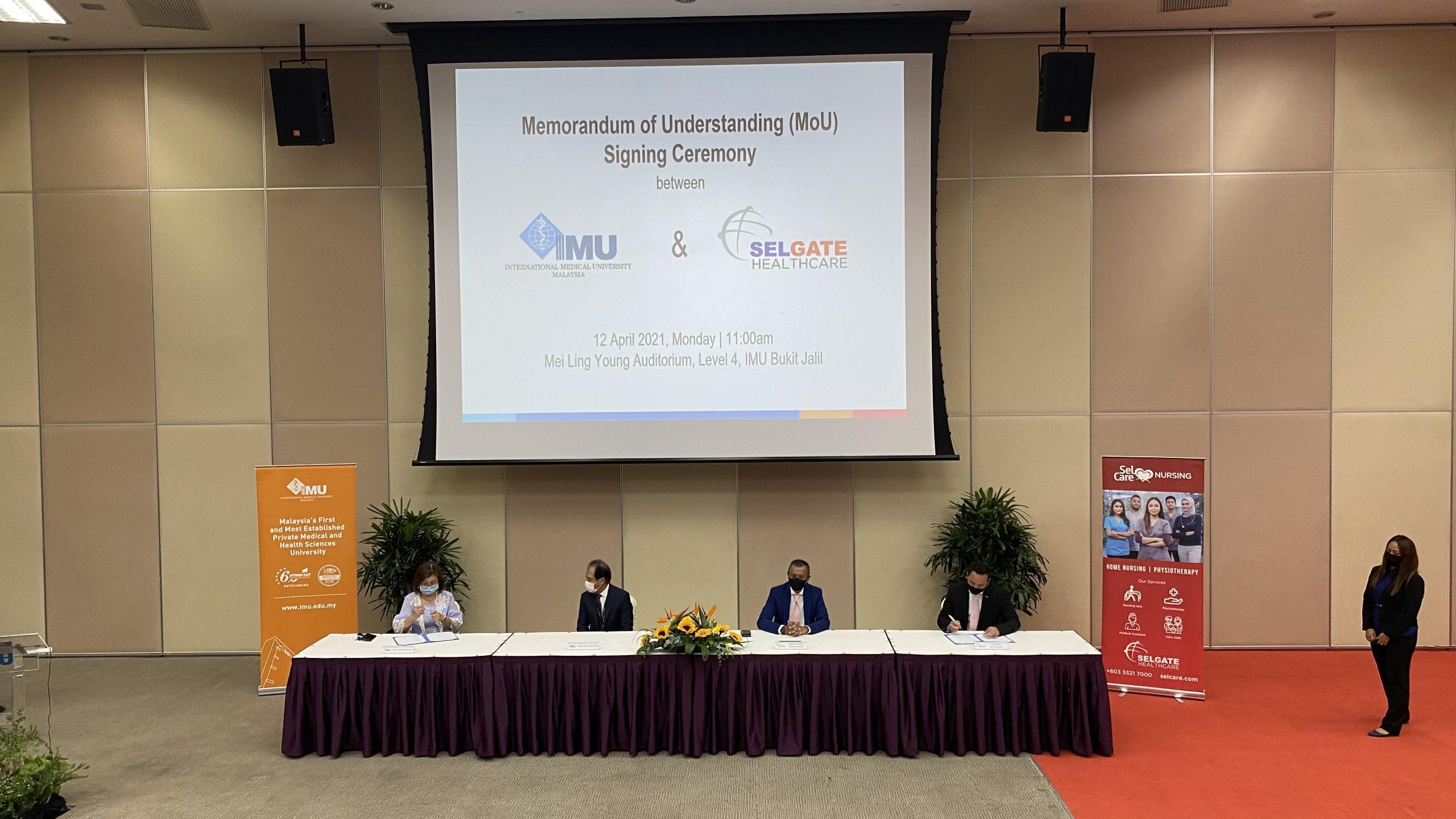 Graduates To Benefit From Memorandum Of Understanding Between IMU And SELGATE Healthcare