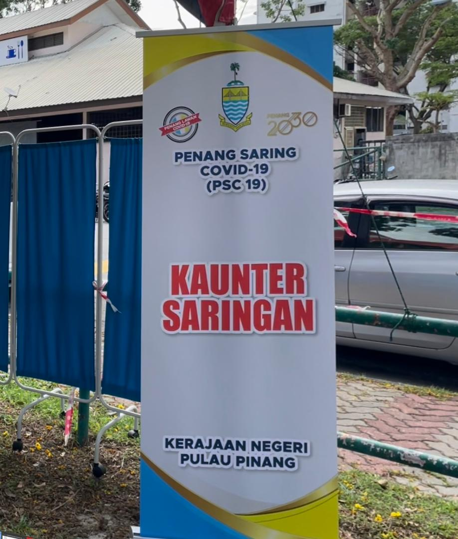 Program saringan massa 'Penang Saring Covid-19  (PSC-19)' dalam komuniti mulai 5 Julai