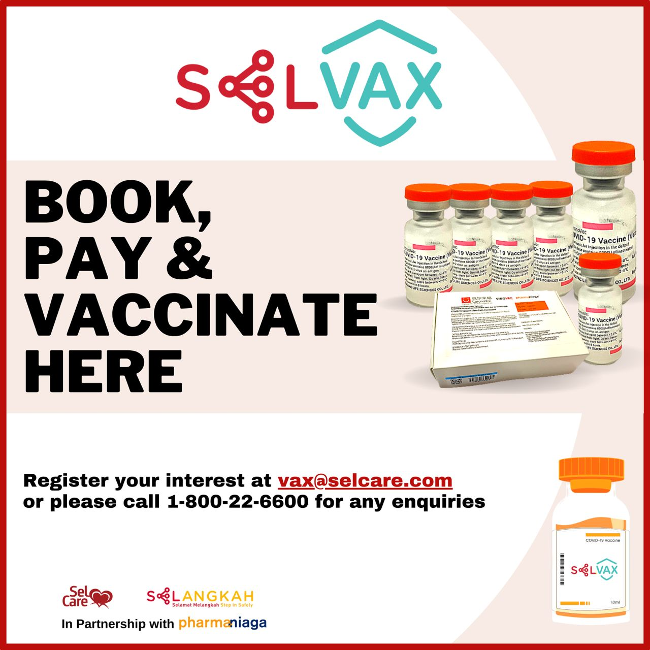 SELVAX PROGRAMME NOW AVAILABLE FOR PUBLIC